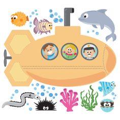 Sea Creatures III wall decals pack