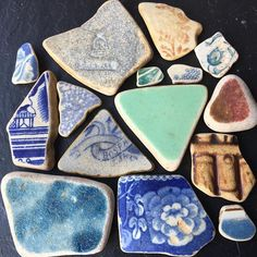 Some nice sea pottery from this week #beachcombing #beach #seapottery #potterypieces