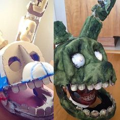 Hey there! Second post, and since there was a huge demand to how I made Springtrap, here it is! Five Nights At Freddy's, Fnaf Cosplay, Cosplay Diy, Lego For Kids, Kids Toys For Boys, Homemade Costumes, Diy Costumes, Fnaf Costume For Kids, Springtrap Costume