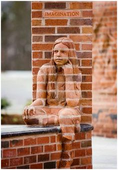 """Imagination""-Brad Spencer Breathes Life into Brick Sculptures #brick #sculpture #art"