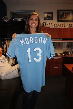 Alex Morgan, throwing out the ceremonial first pitch at a Kansas City Royals game, Sept. 15, 2011. (Alex Morgan/Facebook)
