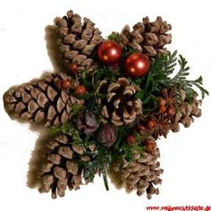 Billedresultat for weihnachten tuerdekorationTang Star Mehr Source byZapfenstern Mehr Rustic tree topper idea (try for a five pointed star)Pine cones / pinecones craft ~ a Christmas star holiday diy decorThis would be an easy Christmas star to make w Christmas Pine Cones, Rustic Christmas, Simple Christmas, Christmas Holidays, Christmas Wreaths, Christmas Ornaments, Pinecone Ornaments, Diy Ornaments, Christmas Door