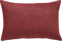 """Devin Red 18""""x12"""" Pillow with Down-Alternative Insert  