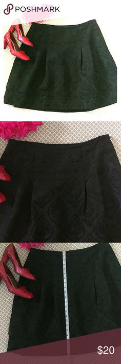 Talbots Black Skirt. Embroidered Pattern Fabric Talbots Black Skirt. Embroidered Pattern Fabric. Side Zipper. Fully Lined. Talbots Skirts