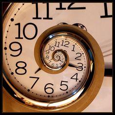 Time spiraling away.