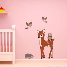 Lot de stickers animaux forestiers mur