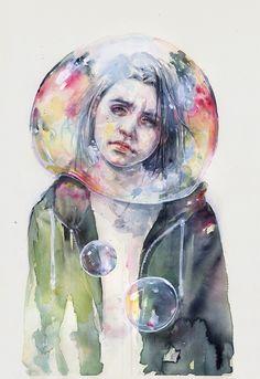 goodmorning world by agnes-cecile.deviantart.com on @DeviantArt