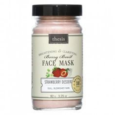 Natural Clay and Organic Strawberry Face Mask for Oily Skin, Problem Skin, Blemishes, Easy to Use, All Natural Brightening Skincare Treatment Natural Facial, Natural Skin Care, Facial Skin Care, Facial Masks, Strawberry Face Mask, Organic Face Products, Beauty Products, Facial Products, Skin Products