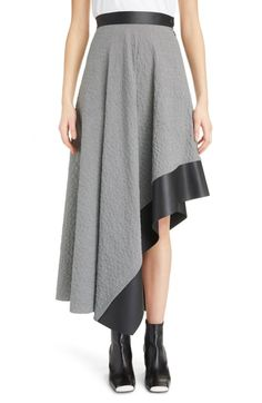 6137a16aacb New Loewe Leather Trim Asymmetrical Skirt. Women Fashion Clothing   790   from top store