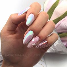 What manicure for what kind of nails? - My Nails Shellac Nail Designs, Shellac Nails, Pink Nails, Nail Polish, Acrylic Nails, Yellow Nails, Cute Nails, Pretty Nails, Hair And Nails