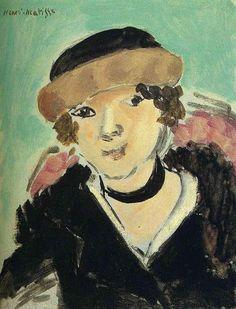Henri Matisse (French, Fauvism, 1869-1954). 1918, Petit Portrait de Marguerite…