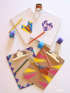 Clipboard Makeovers with Washi and Duct Tape | 37 Awesome DIYs To Make Before School Starts