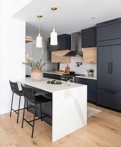 Kitchen Room Design, Modern Kitchen Design, Home Decor Kitchen, Interior Design Kitchen, New Kitchen, Home Kitchens, Kitchen Ideas, Interior Modern, Modern Condo