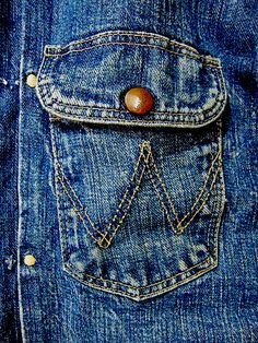 our archive: Blue Bell Wrangler beg. Vintage Denim, Vintage Clothing, Vintage Outfits, Men's Denim, Denim Style, Fashion Wear, Fashion Outfits, Pocket Detail, Mens Clothing Styles