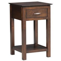 Night Table Highland Park Furniture Made In Usa Builder75 available at Amish Oak and Cherry