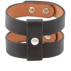 Charlotte Russe Black Stacked Faux Leather Cuff Bracelet by Charlotte... ($6) ❤ liked on Polyvore