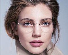 Buy Eyesilove titanium rimless Reading Glasses ultra-light women alloy Rimless reading eyeglasses Presbyopic glasses to Cool Glasses, Glasses Frames, Round Lens Sunglasses, Sunglasses Women, Rimless Reading Glasses, Glasses Trends, Fashion Eye Glasses, Make Up, Cat Eyes