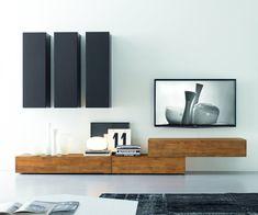 Livitalia Wohnwand Modern TV Wall made of solid wood. Italian hand made. Living Room Tv, Home And Living, Modern Tv Wall, Muebles Living, Furniture Design, Interior Design, Home Decor, Solid Wood, Tv Unit