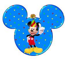 Cabezas de Mickey en diferentes posturas.