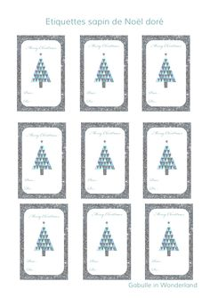 Etiquettes++cadeaux+sapin+de+Noël+paillettes+argenté+design+géométrique+girly+doré+à+imprimer+télécharger+gratuit+Gabulle+in+Wonderl...