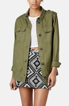 Topshop 'Rufus Shackett' Army Jacket available at #Nordstrom