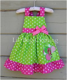 Items similar to Strawberry Shortcake Girls Dress, Strawberry Shortcake Birthday Girl Dress, Lime Pink Polka Dot Strawberry Shortcake Dress on Etsy Toddler Dress, Baby Dress, Pink Dress, Bug Clothing, Boutique Clothing, Birthday Girl Dress, Birthday Dresses, Little Girl Dresses, Girls Dresses