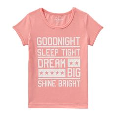 Kid Girls' Graphic Sleep Tee from Joe Fresh. Drift off in a dreamy tee.  Only $6.