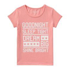 Kid Girls' Graphic Sleep Tee from Joe Fresh. Drift off in a dreamy tee.  Only $6.