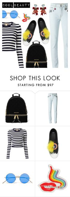 """""""Cool beauty"""" by dressedbyrose ❤ liked on Polyvore featuring MICHAEL Michael Kors, Fendi, Michael Kors, Illesteva, Olympia Le-Tan, Dsquared2, StreetStyle, polyvoreeditorial and coolbeauty"""