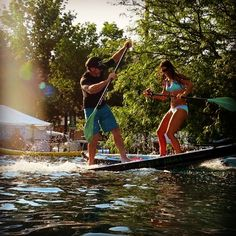 SUP Jousting on the Hala Gear Inflatable. Wicked fun! #inflatable #jousting #sup…