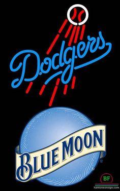 Blue Moon Los Angeles Dodgers Neon Sign MLB Teams Neon Light