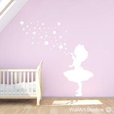little bubble girl, wall art sticker, girl blowing bubbles vinyl wall art, decorative wall art decals, v Vinyl Wall Stickers, Vinyl Wall Art, Wall Art Decor, Wall Decals, Home Wall Colour, Wall Colors, Colours, Blowing Bubbles, Restaurant Ideas