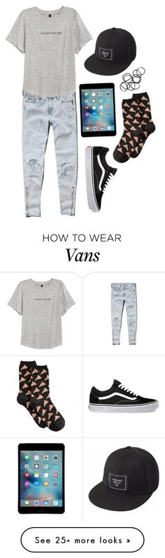 """""""Untitled #2716"""" by moria801 on Polyvore featuring Abercrombie & Fitch, H&M, Vans, HOT SOX and Monki"""