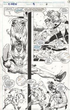 X-Men #4 Page 4 Comic Art
