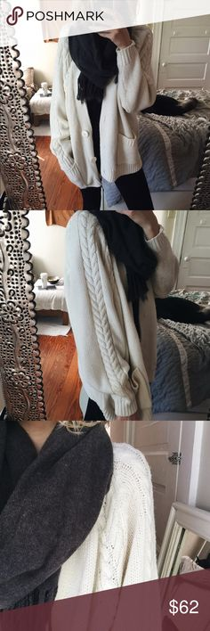 Wild West Dollman Cardigan A classic + romantic cream knit featuring adorable buttons and deep, functional pockets. This would fit a small medium or large size but + will be a more oversized fit for smaller gals. Not Free People Free People Sweaters Cardigans