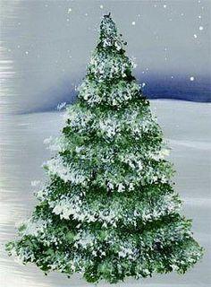 Елка угловой щетинистой кистью 4 самых простых способа нарисовать елку или сосну кистью / 4 the easiest way to draw a Christmas tree or pine