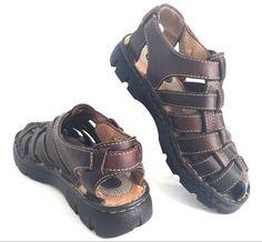 df35999a2533f BORN Women Fisherman Sandals 7M US 38 EU Brown Leather Shoes Buckle Strap   Born  SportSandals  Casual