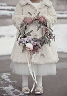 27 Winter Flower Girl Outfits To Keep Them Warm And Stylish Winter Flower Girl, Winter Wedding Flowers, Winter Weddings, Trendy Wedding, Wedding Day, Wedding Games, Wedding Wishes, Gold Wedding, Flower Girl Wreaths