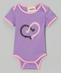 Loving this Lil Bandits Lavender Horseshoe Bodysuit - Infant on #zulily! #zulilyfinds