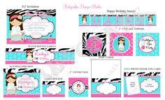 Spa Party Invitation and Party Package  DIY Print por jcbabycakes