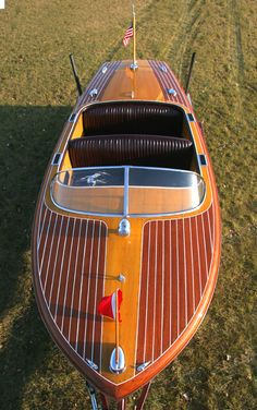 "Chris Craft Capri- boating in style. If this were mine I'd name it  ""Champagne dreams"""