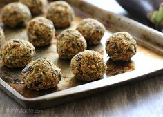 Vegan Eggplant Meatballs   Skinnytaste