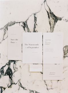 FOR THE STATIONARY || NOVELA BRIDE...Clean, classic & timeless white typography invitation suite || Where the modern romantics play & plan the most stylish weddings... www.novelabride.com @novelabride #jointheclique