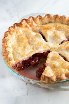 Easy Cherry Pie Recipe from www.inspiredtaste.net #recipe #pie
