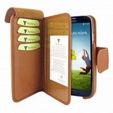 Forro Samsung Galaxy S4 Piel Frama Wallet - Marron  Bs.F. 807,28