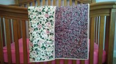 Baby Girl Quilt / Toddler and Crib Bedding / Floral Crib