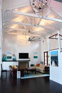 Isis ceiling fan by Big Ass Fans.  #bigassfans  Photo Details: Category:Living Room Style:Traditional Location:Charleston