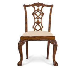 Julia Chippendale Side Chair Honey Finish Neutral