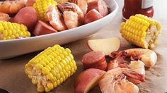 Slow-Cooker Low Country Boil Come home to a slow cooked hearty dinner featuring sausage, shrimp, potatoes and Green Giant® Nibblers® corn-on-the-cob – a classic summertime meal. Crock Pot Slow Cooker, Crock Pot Cooking, Slow Cooker Recipes, Crockpot Recipes, Cooking Recipes, Crock Pots, Cooking Bacon, Cooking Ideas, Great Recipes