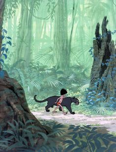 "Cel drawing for Disney's ""The Jungle Book"" by Milt Kahl."